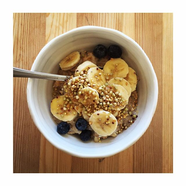 Enjoying a later breakfast #banana #brunch  #instahealth