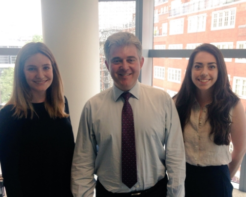 Brandon Lewis, with Georgina Naish and Megan Robinson