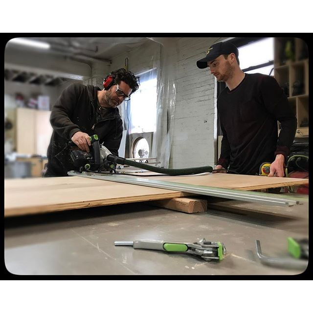Observing creating plunge saw technique. We are all about creativity and free interpretation here at TKDF. #festoolusa #festool