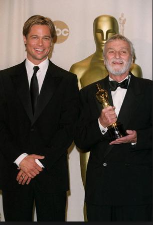 Brad Pitt presenting to Conrad Hall
