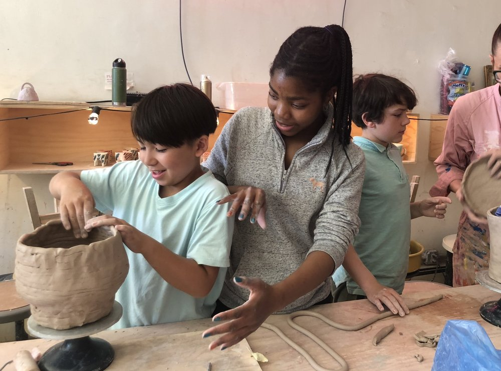 Teen Assistant Internship Program - Local teens join Artshack as teaching assistants in the kids ceramic classes. This program provides teens with work experience in an enriching art education environment, leadership skills, access to trainings, and teen community/art events. In addition to valuable leadership and work development, teens receive a studio membership, including: access to the facilities,unlimited materials, and meaningful interaction with other teens from their community as well as engaged art educators.To apply for our fall 2018 internships see application here.