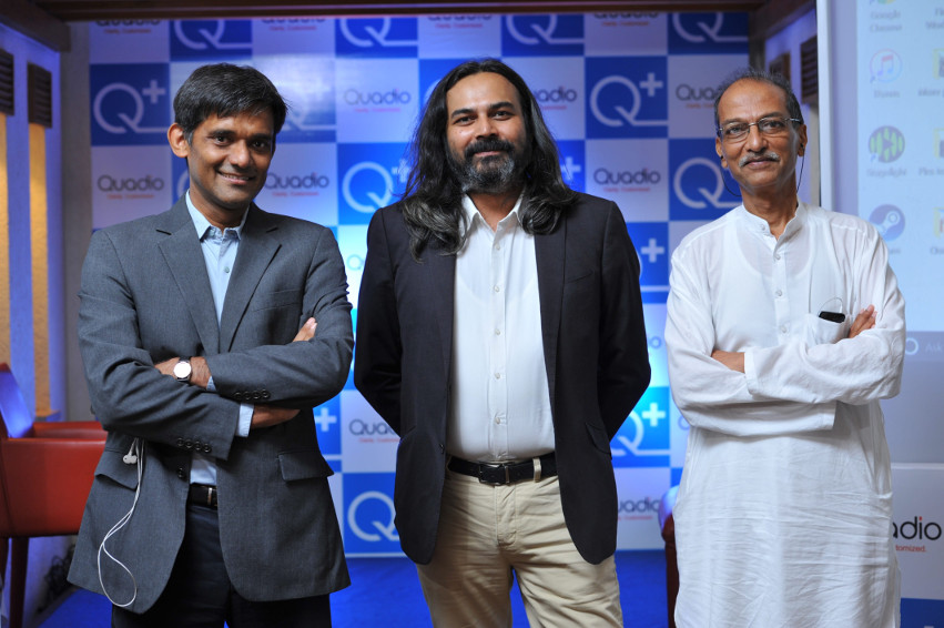 Anurag Sharma, CTO and Co-founder, Neeraj Dotel, CEO and Paresh Patel, Founder, Quadio