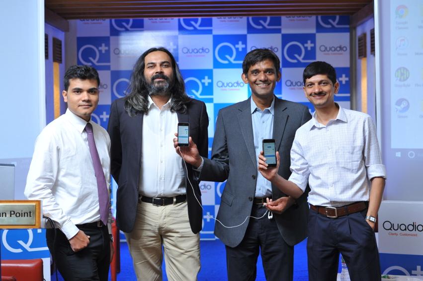 Q+ App Launch: Kaustuv Ray, Chief Audiologist, Neeraj Dotel, Anurag Sharma and Ketan Pandya, Development Manager, Quadio