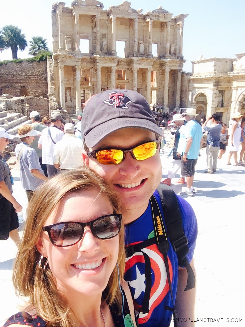 My husband and I during a port excursion in Ephesus, while on our 12 Day Mediterranean Honeymoon Cruise