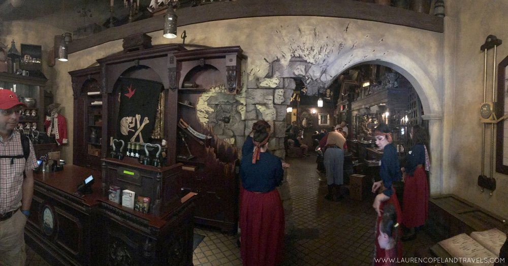A pano of the Pirates League Entrance. It is SO cool in person!