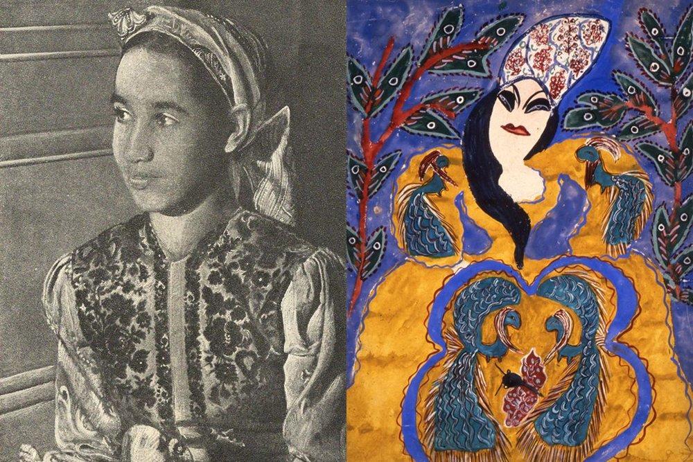 Algerian teen artist Baya Mahieddine (1931–1998).