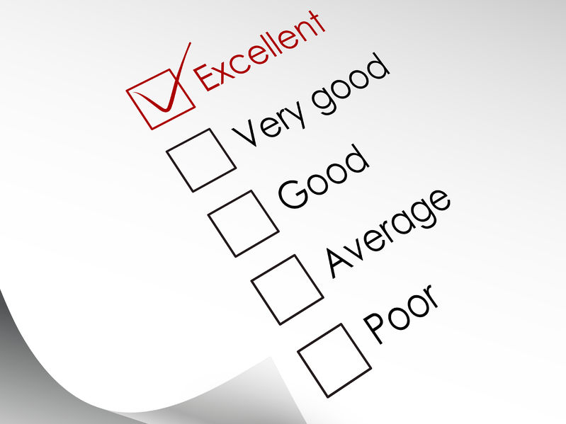 30595698 - tick placed in excellent check box in red over check list