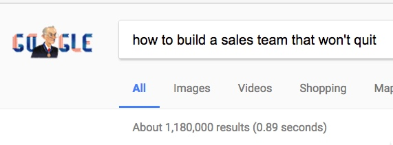 ahow to build a sales team that won't quit google search analytics that profit