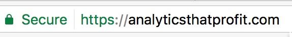 analytics that profit secure website