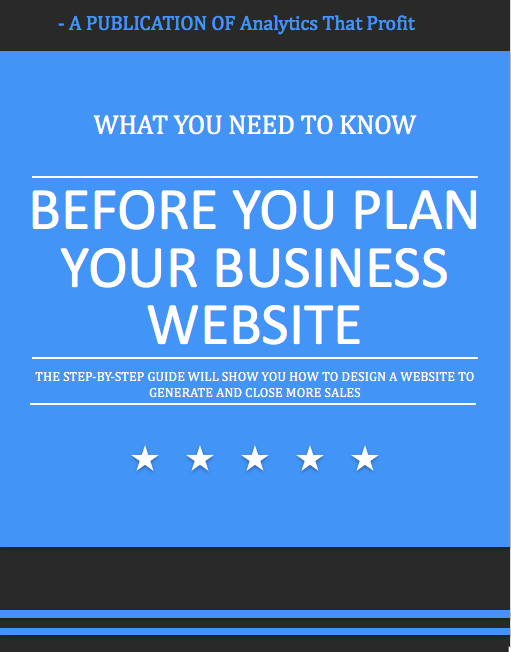 plan your business website analytics that profit