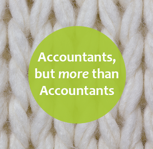 Knitting image- more than accountants