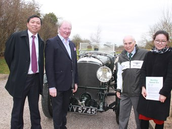 Guian Zong and May Mao of CVUC were accompanied by FBHVC chairman David Whale to meet Bentley Drivers Club president Jimmy Medcalf on their UK visit.