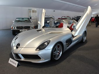 Stirling moss mercedes benz slr mclaren sells for 2 3 for 2 5 million mercedes benz