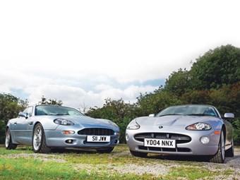 CLASH OF THE CLASSICS JAGUAR XK V ASTON MARTIN DB Classic Cars - Aston martin db 7 for sale