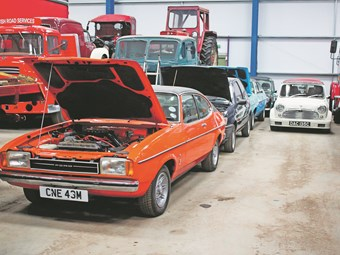 More than 70 cars will be sold at the East of England Showground, Peterborough during Truckfest, including this rare Capri 3.0-litre GT.