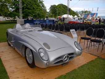 A UK-built and consigned Mercedes 300SLR Evocation with 280E engine legally migrated to Denmark last month to be hammered away for 326,250 euros (£254,475)