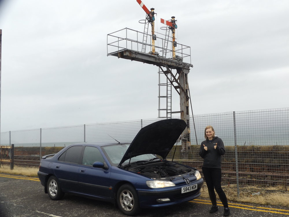 Photographer, Stephanie Graham, thoroughly enjoyed a thorough soaking everytime the 406 required a radiator top-up.