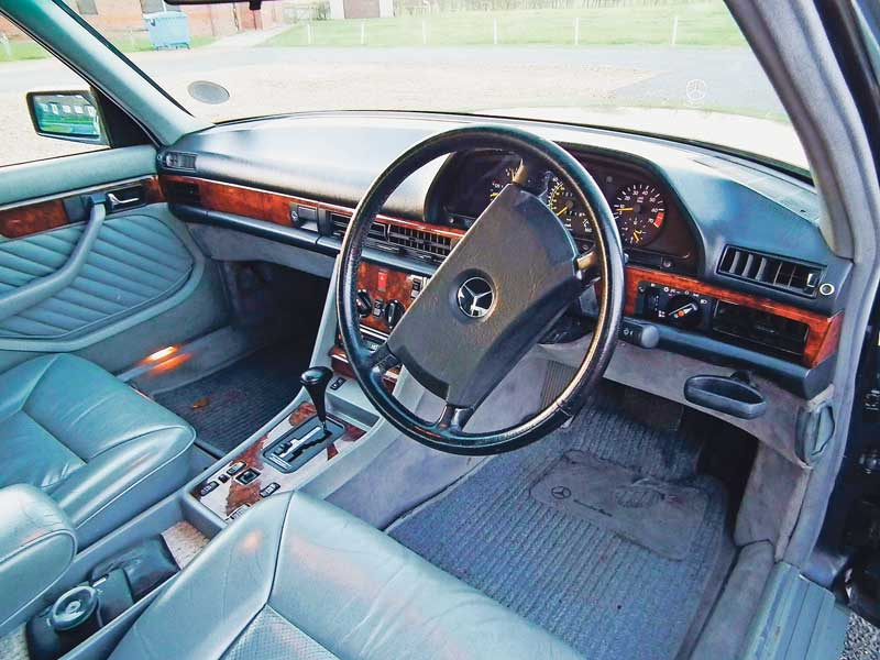 Interior is restrained yet opulent. The steering wheel is known to go straight.