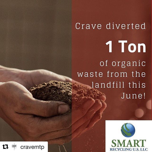 #Repost @cravemtp It is satisfying to know that our environmental footprint is lessened when we dine at restaurants like Crave because they recycle their food waste! ・・・ It feels good to be a part of a program like @smartrecycle_us! ♻️