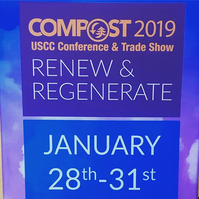 In our happy place with the rest of the compost community around the US!  #compost2019 💚♻️💚 . . . . . . #compostcommunity #compost #dontwastefoodsc #foodwaste #reducereuserecycle