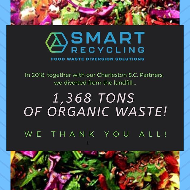 Cheers to our awesome Charleston SC partners who are #composting their #foodwaste!  #charleston #dontwastefoodsc #greenovergarbage #compostchampions