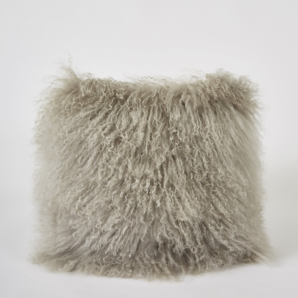 METALLIC/FUR PILLOW