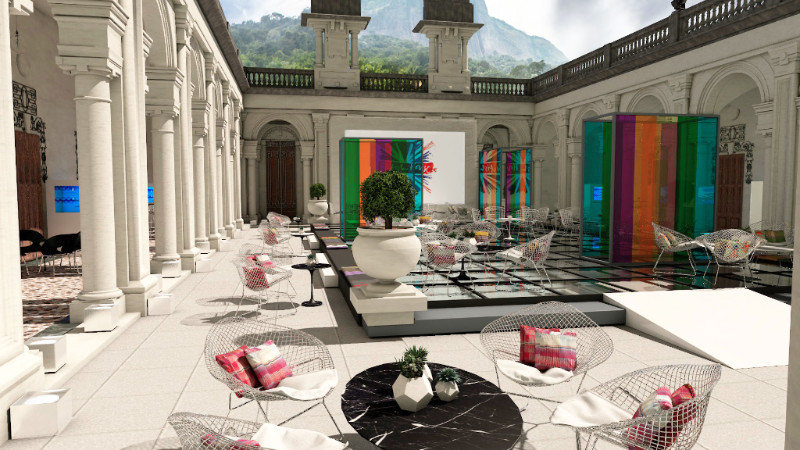 Artists impression of installations at Parque Lage, 2016