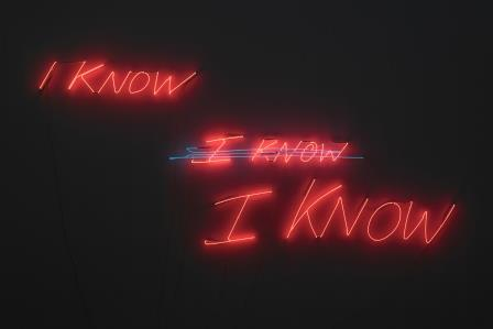 I know, I know, I know (2002). Tracey Emin. Courtesy the Artist and DACS. NEON