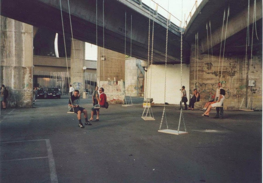 Group A12, Swing, Installation, Out of use, Pescara, 2000, Courtesy the artist