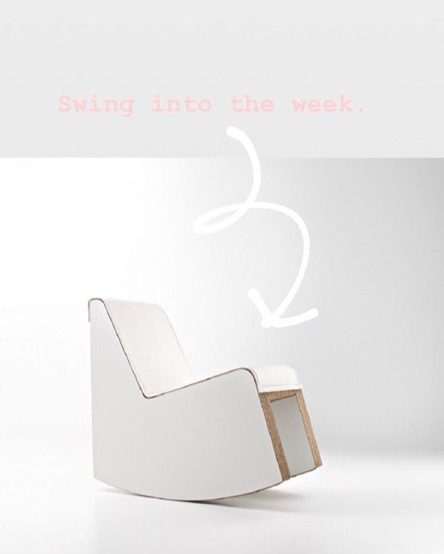 Swing into the week with a sale! Link in bio. #swing #rockingchair #moderndesign #sustainabledesign