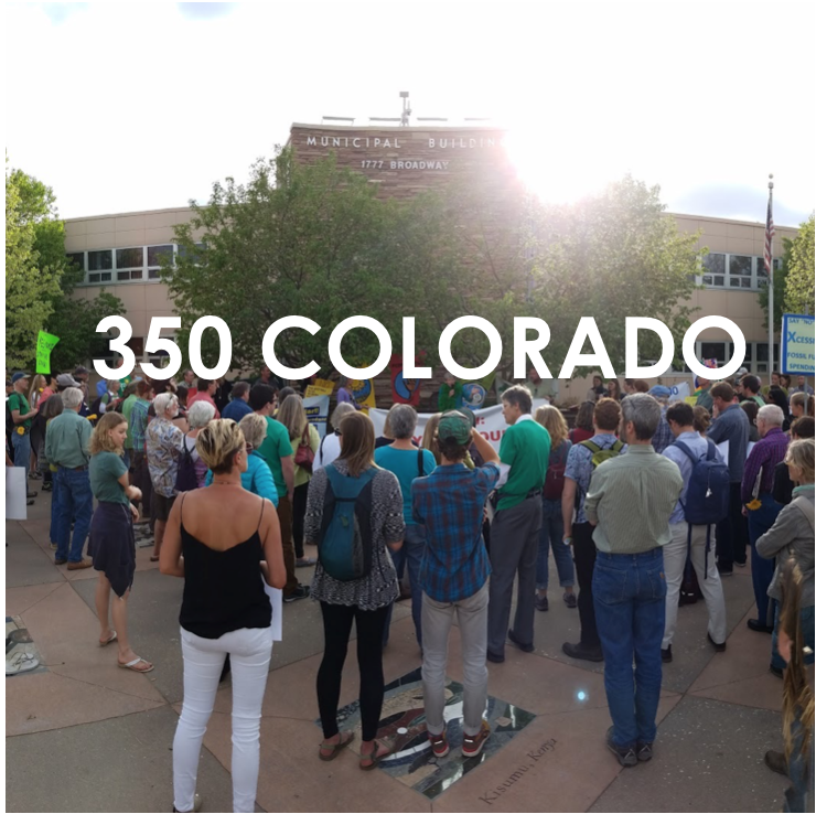 350 Colorado is working locally to help build the global grassroots movement to solve the climate crisis and transition to a sustainable future.
