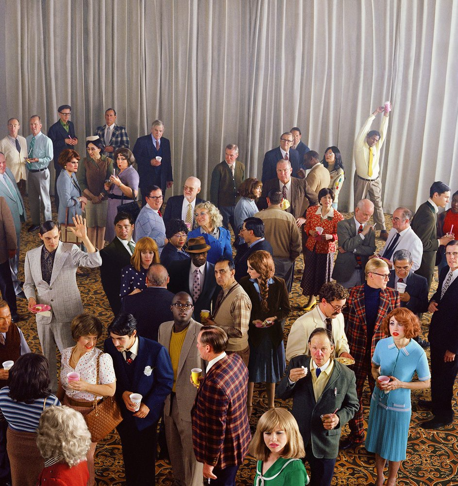 ALEX PRAGER  CROWD #12, 2013  ARCHIVAL PIGMENT PRINT  PRIVATE COLLECTION, LOS ANGELES