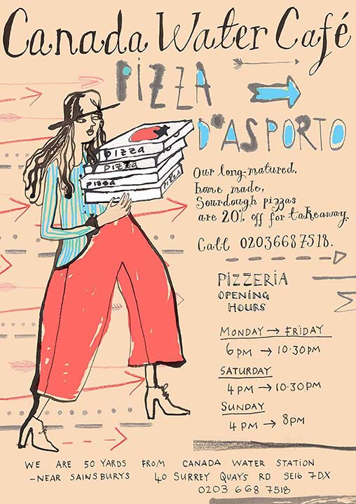 Pizza D'asporto   Canada Water Cafe