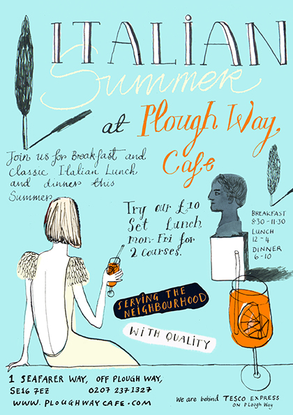 Banner design for @ploughwaycafe
