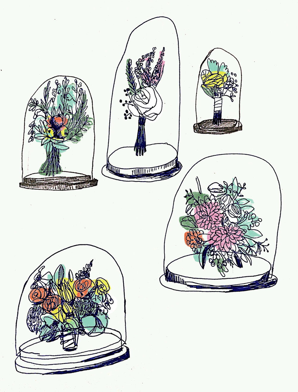 Bell Jar and Flowers
