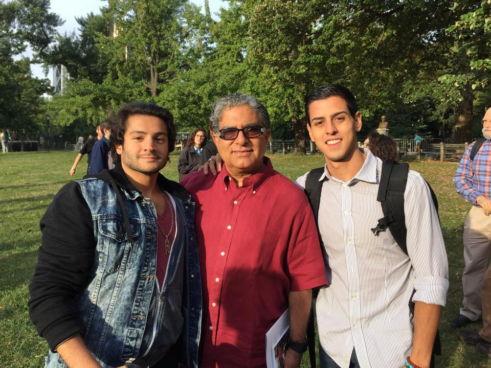September, 2015  Shay Motion and Jerome Coffey with  Deepak Chopra  at World Peace Meditation, Imagine Circle Central Park on International Day of Peace