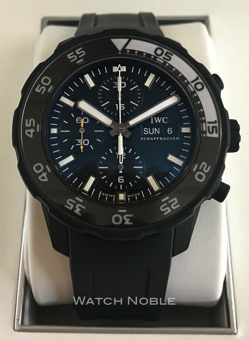 5eaaf1d4a2a1 IWC Aquatimer Automatic Chronograph Galapagos Islands Black Rubber Men s  Watch IW376705 for sale