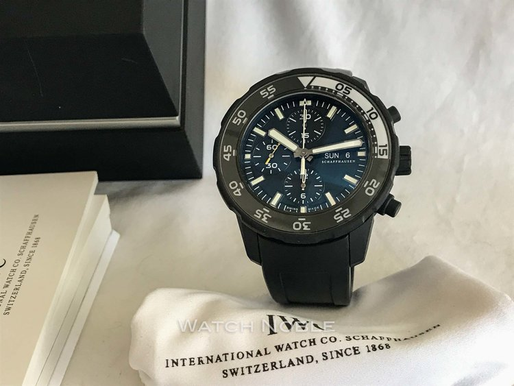 671c5e013a2e IWC Aquatimer Automatic Chronograph Galapagos Islands Black Rubber ...