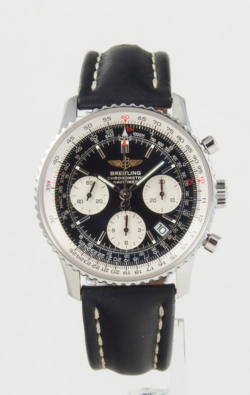 8b8f98766582 Breitling Navitimer Automatic Chronograph Steel Black Dial on Black Leather  Strap A23322 for sale. 40953073132 c64f52461a k.jpg