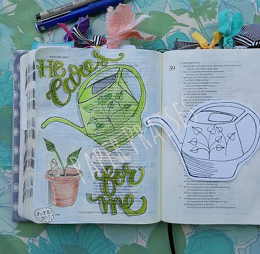 Grow and Bloom Watering Can Finished Page