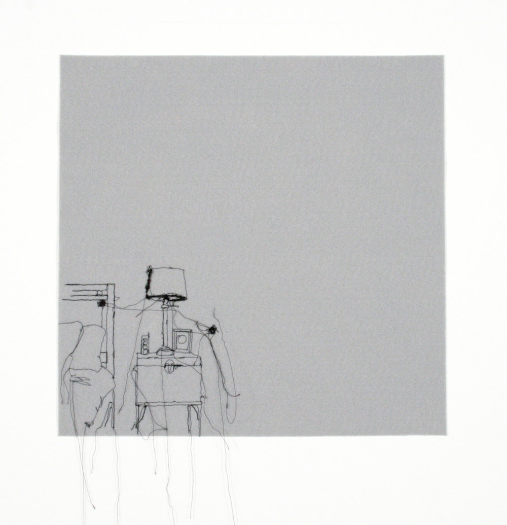 Figure 6.  The Most Perfect Thing  (2011), Machine-embroidery on cotton-backed muslin, 13 ¾ x 13 ¾ inches