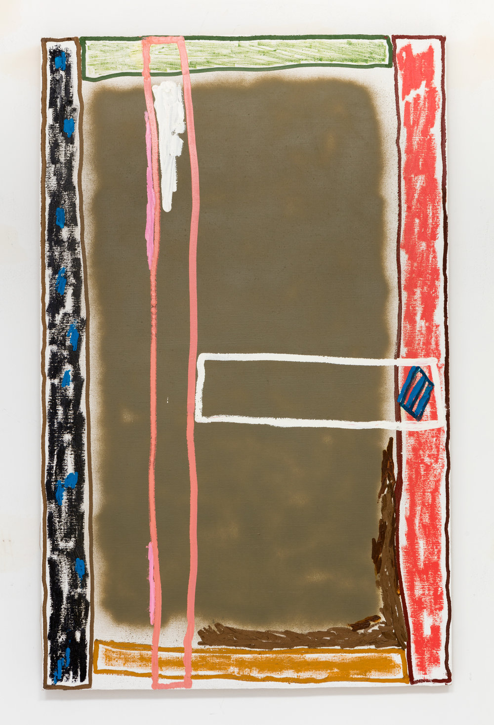 Michael Frank Blair, Untitled 11 (2016), Oil and mixed media on linen, 48 x 30 inches