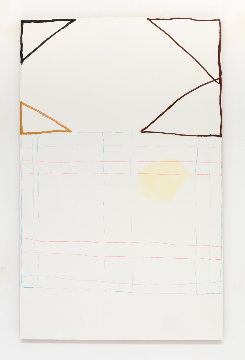 Michael Blair, Untitled 9 (2015), oil and marker on linen, 48 x 30 inches