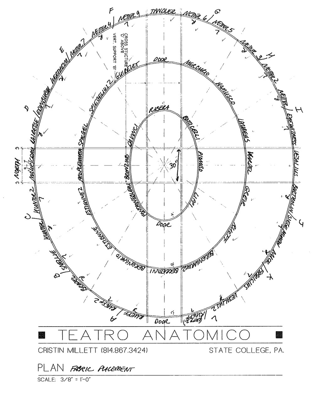 Cristin Millett, Plan for  Teatro Anatomico