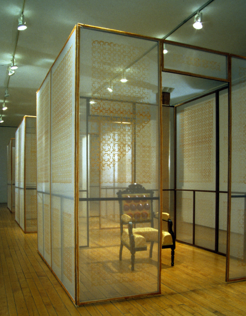 Cristin Millett,  Transparency of Knowledge (Levret Version) , multimedia installation, 2002