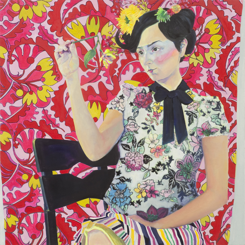 Broken Blossom , oil on canvas, 36.5 x 36.5, 2010