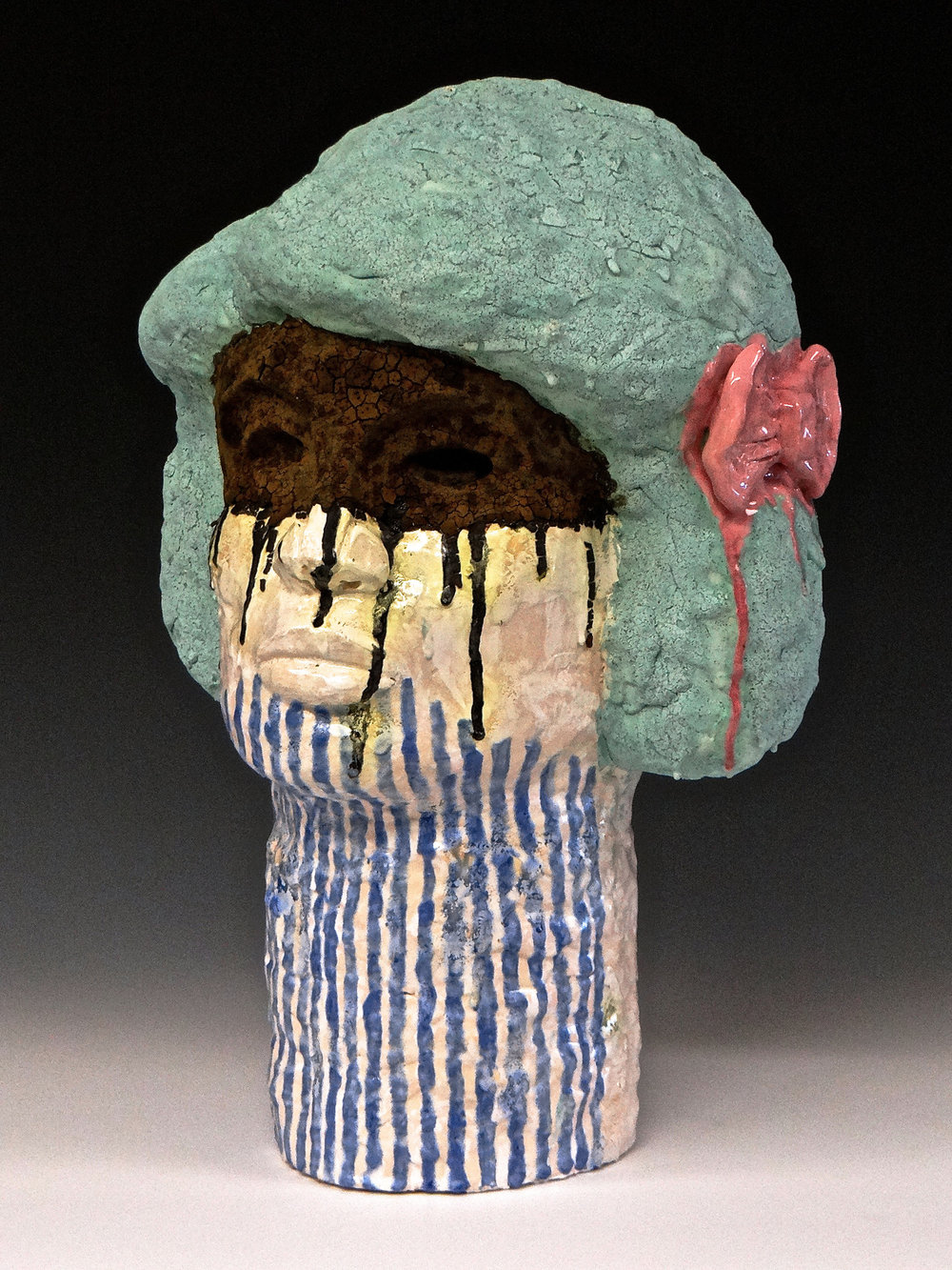Even Warriors Wear Bows, Earthenware ceramic, 2017