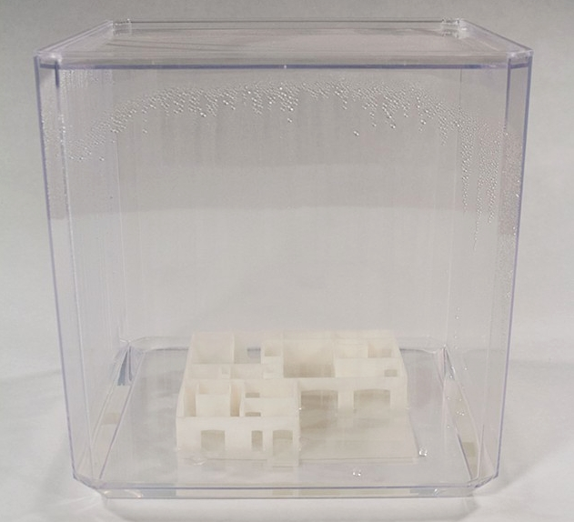 Hurricane House , 3D print, Plexiglas, water, 16 x 16 x 16 inches, 2014