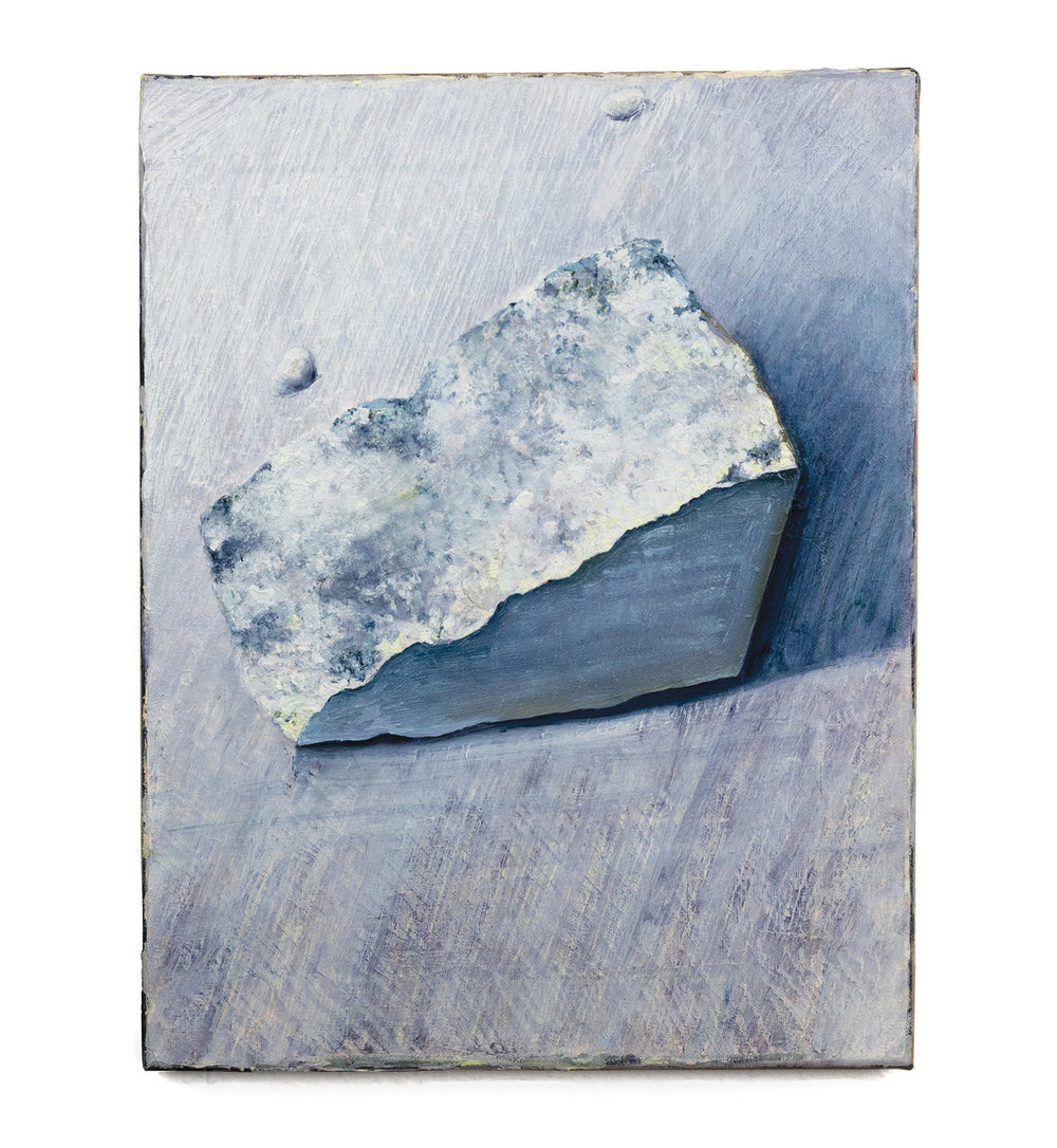 Triangular Chunk , oil on linen, 14 x 11 inches, 2017