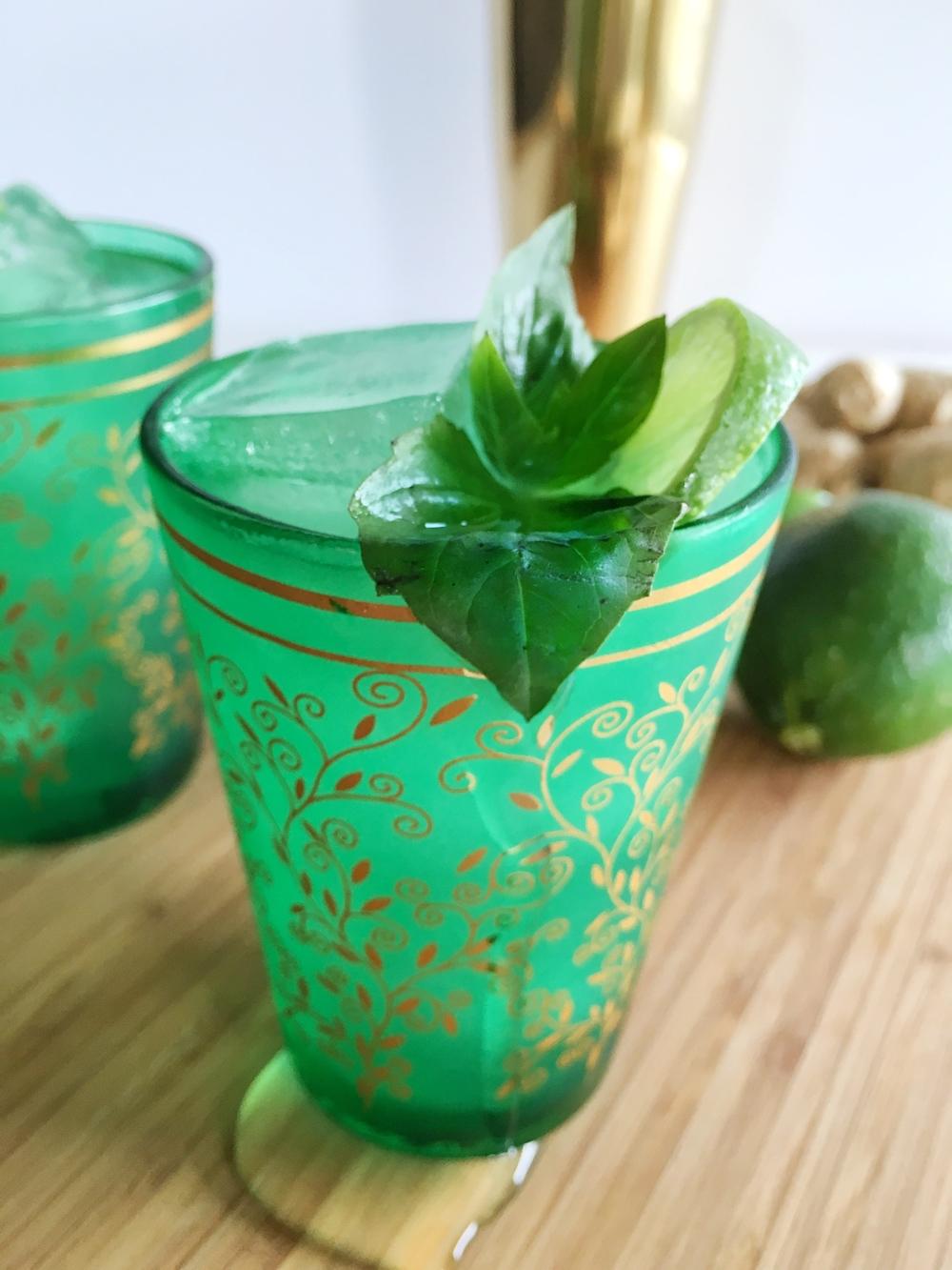 Thai Basil + Ginger Cocktail — fern + shaker
